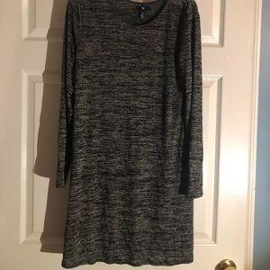Softspun Long Sleeve T-Shirt Dress, gray gap dress